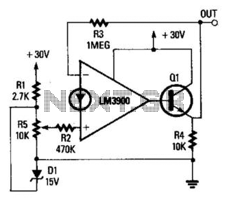 Variable Voltage Regulator - schematic