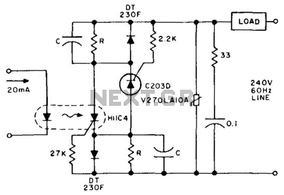 solid state latching relay circuit