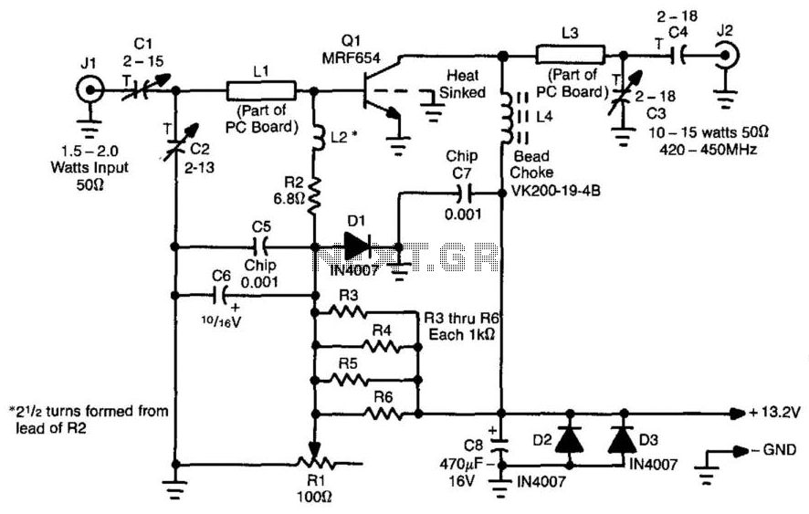 10 To 15W Atv Linear Amplifier - schematic
