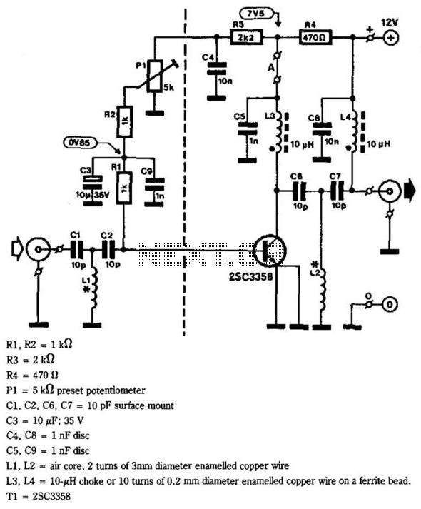 Uhf Tv-Line Amplifier - schematic