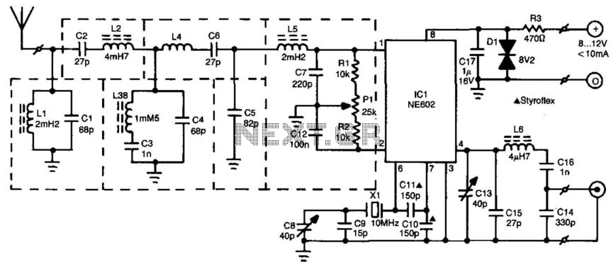 Radio Beacon Converter - schematic