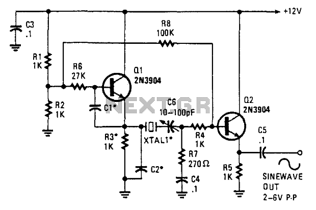 sine wave oscillator circuit diagram