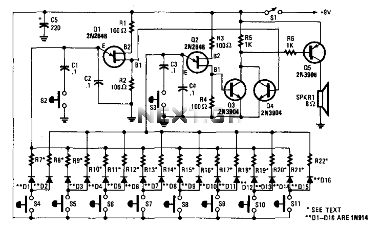 Electronic Bagpipe - schematic