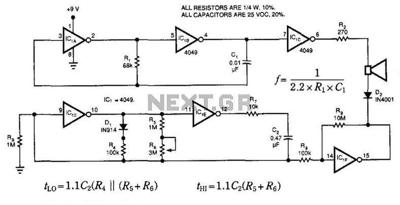 Single-Chip Chime - schematic
