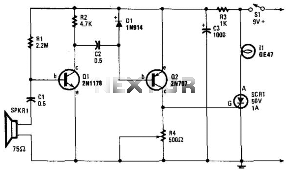 Sound-Operated Switch - schematic