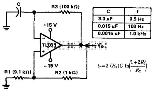 Basic Multivibrator - schematic