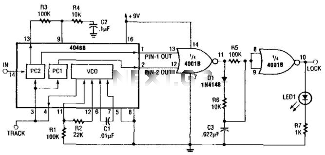 Precision Narrow-Band Tone Switch - schematic