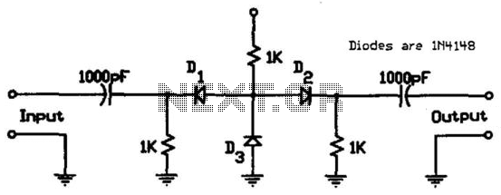 Inexpensive Vhf/Uhf Diode Rf Switch - schematic