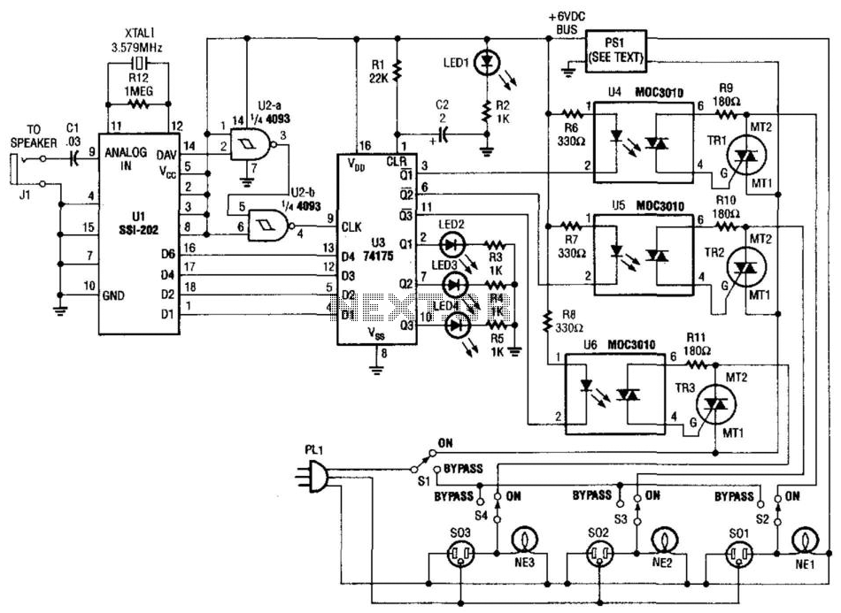 Telephone-Operated Ac Power Switch - schematic
