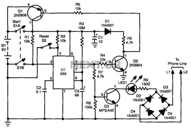 Telephone Silencer - schematic