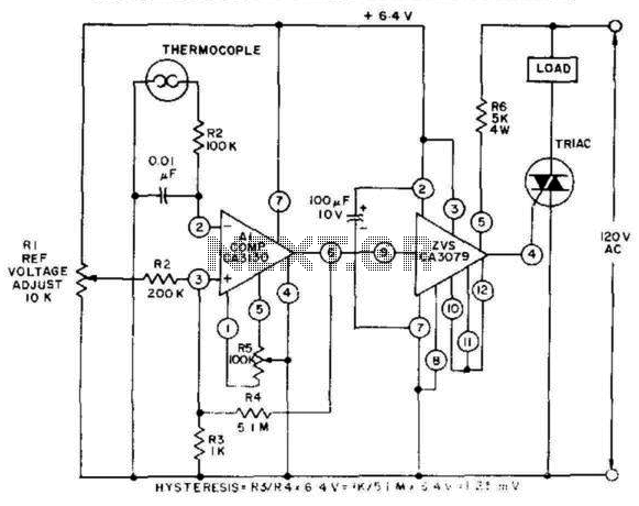 Thermocouple Temperature Control - schematic