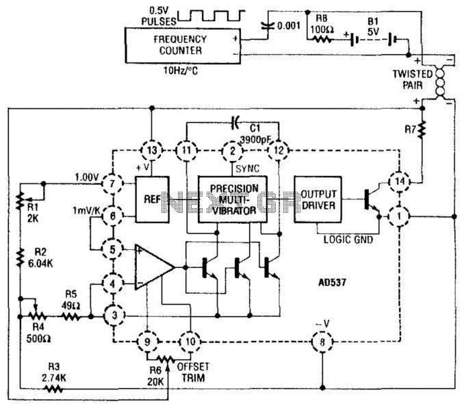 Temperature Sensor - schematic
