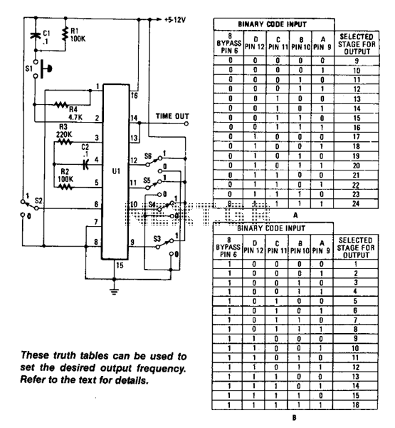 Long-Interval Programmable Timer - schematic