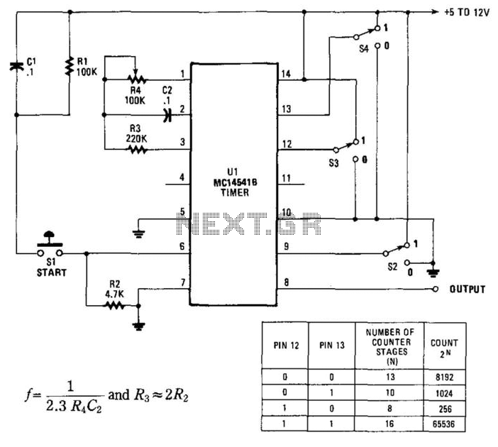 Programmable Timer For Long Intervals - schematic