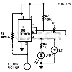 Time-On Touch Switch - schematic