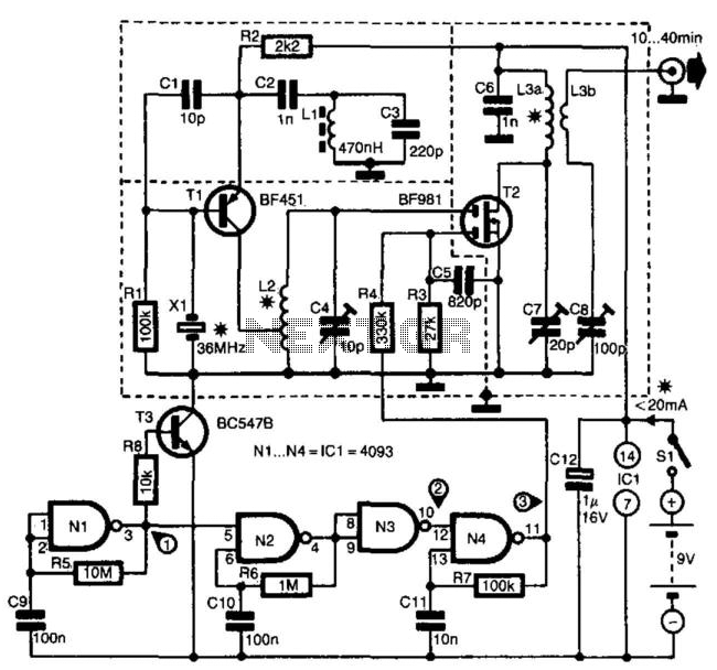 2M Transmitter - schematic