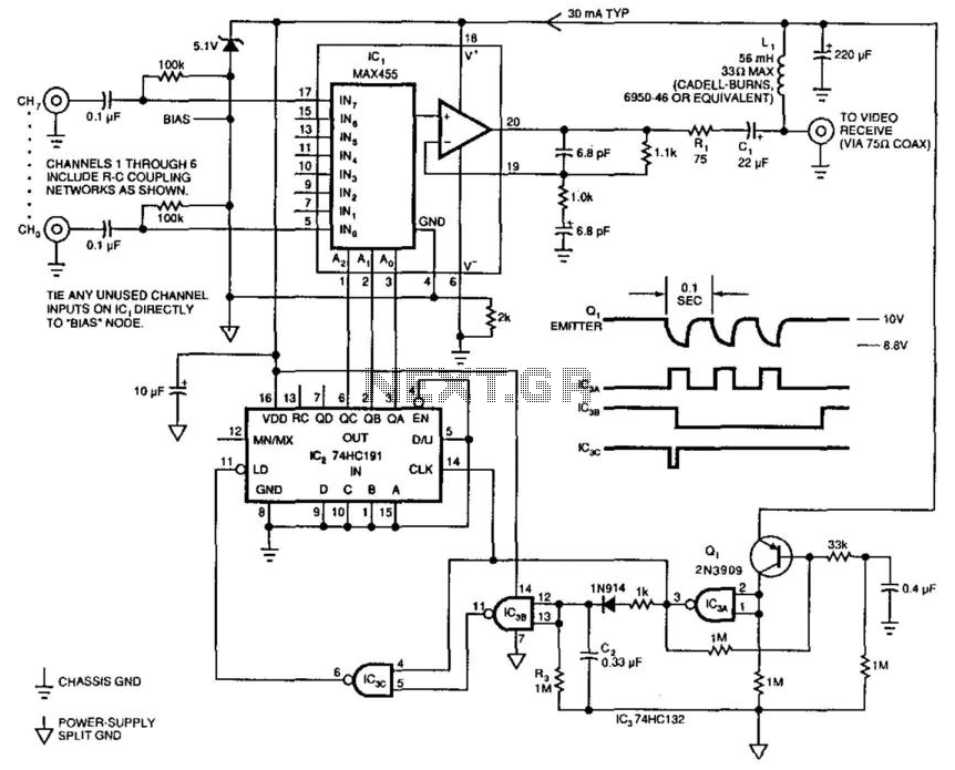 Remote-Controlled Switcher - schematic