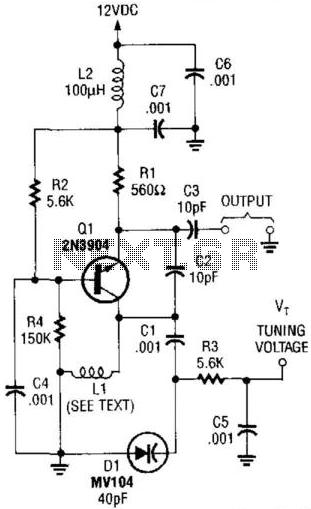 Voltage-Tuned Vhf Oscillator - schematic