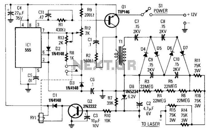 laser circuit light laser led circuits next gr laser power supply
