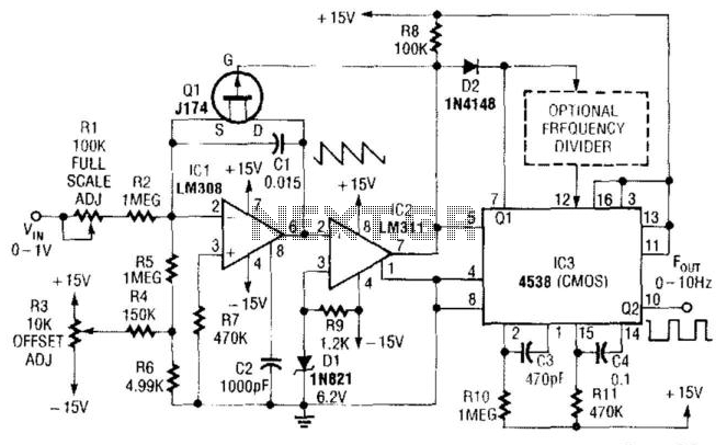 Simple Low-Frequency V/F Converter