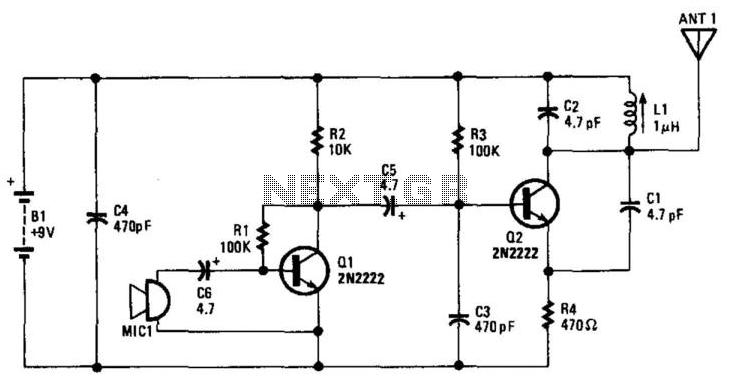Wireless Microphone - schematic