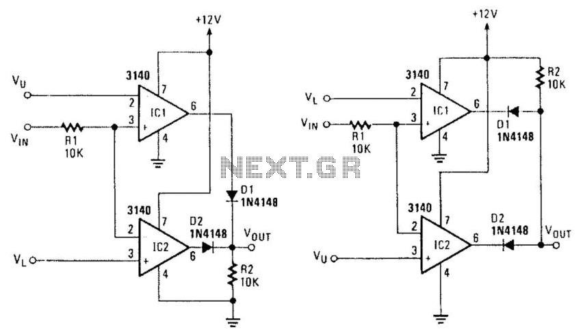 window comparators under checker circuits