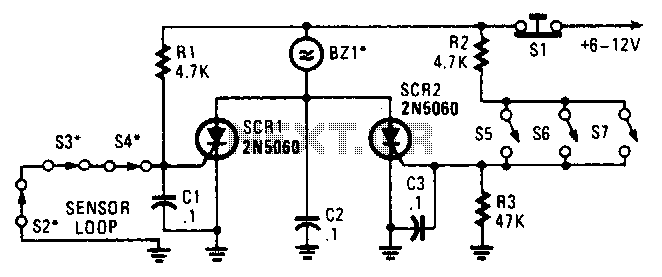 Quick view of Series Parallel Loop Alarm Circuit