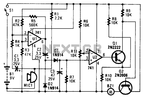 Audio Alarm Circuit - schematic