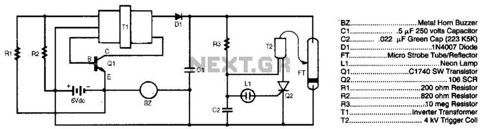 Burglar Chaser Circuit - schematic