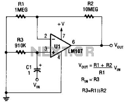 Noninverting Ac Amplifier Circuit