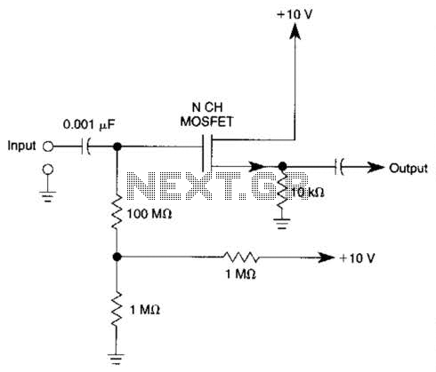Unity-Gain Noninverting Amplifier Circuit - schematic