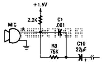 Electret Mike Preamp Circuit