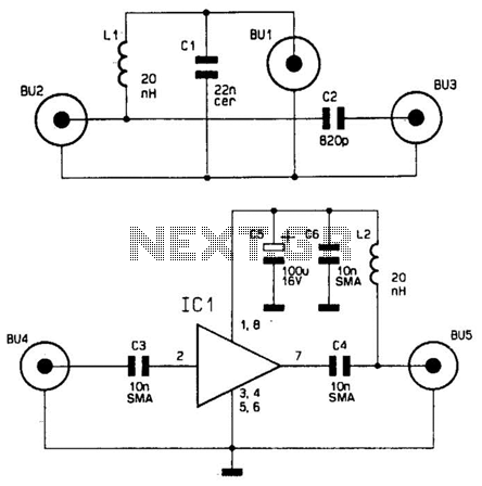 Wideband Antenna Preamplifier Circuit