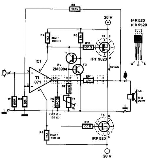Mosfet Power Amplifier Circuit