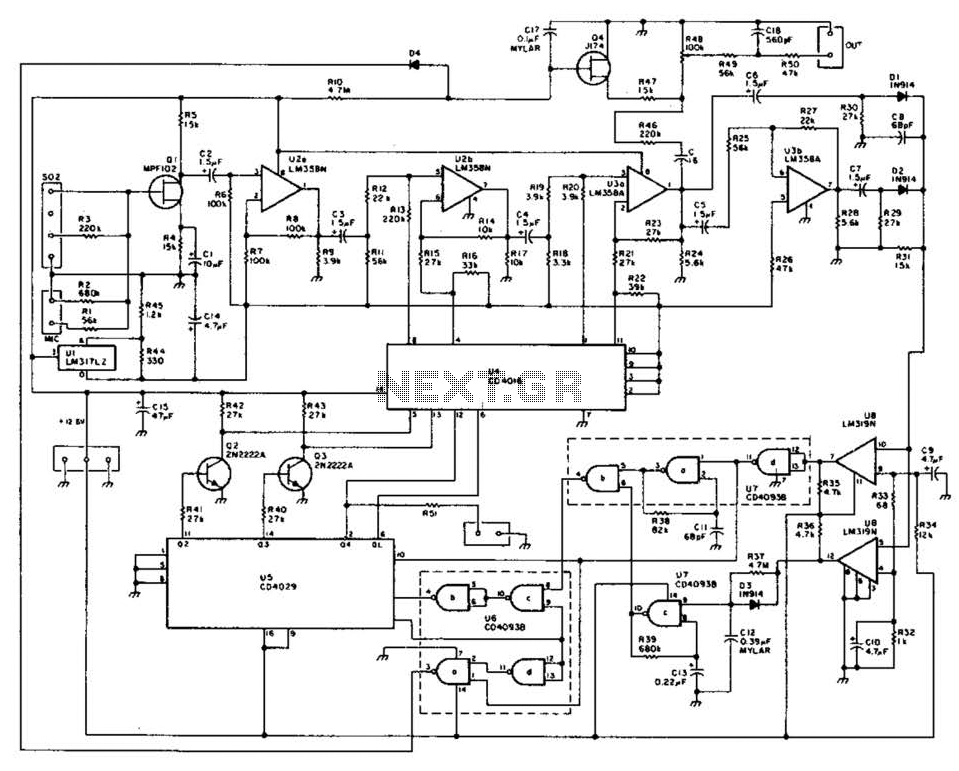 digital automatic level control  alc  circuit under audio tone balance circuits