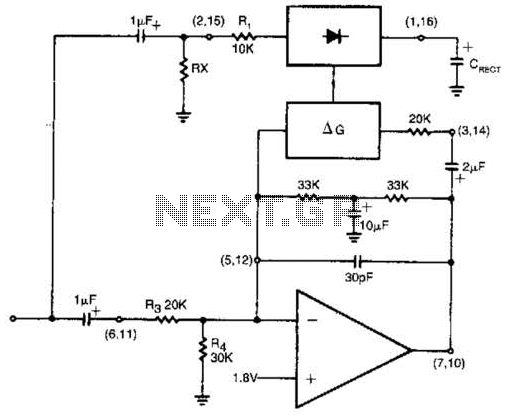 Alc (Automatic Level Control) Circuit - schematic
