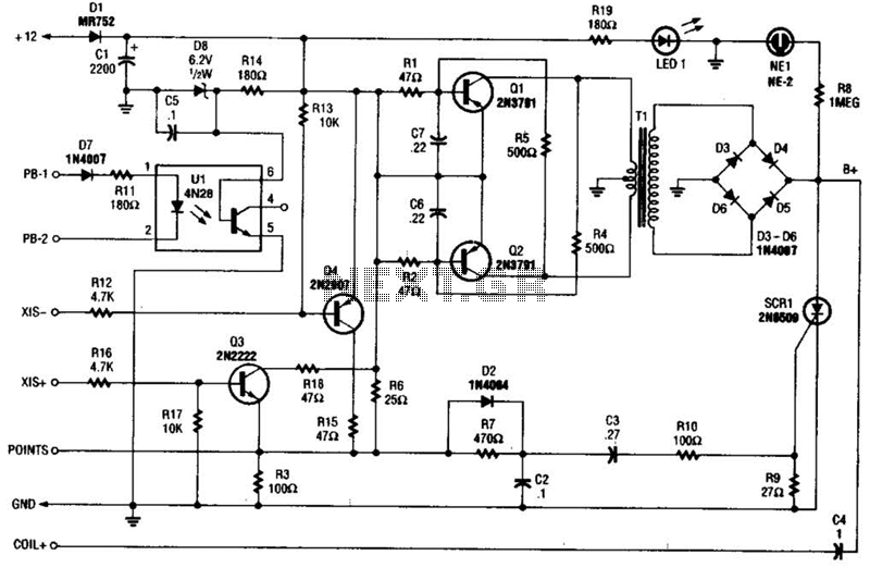 Cd Ignition System For Autos Circuit - schematic