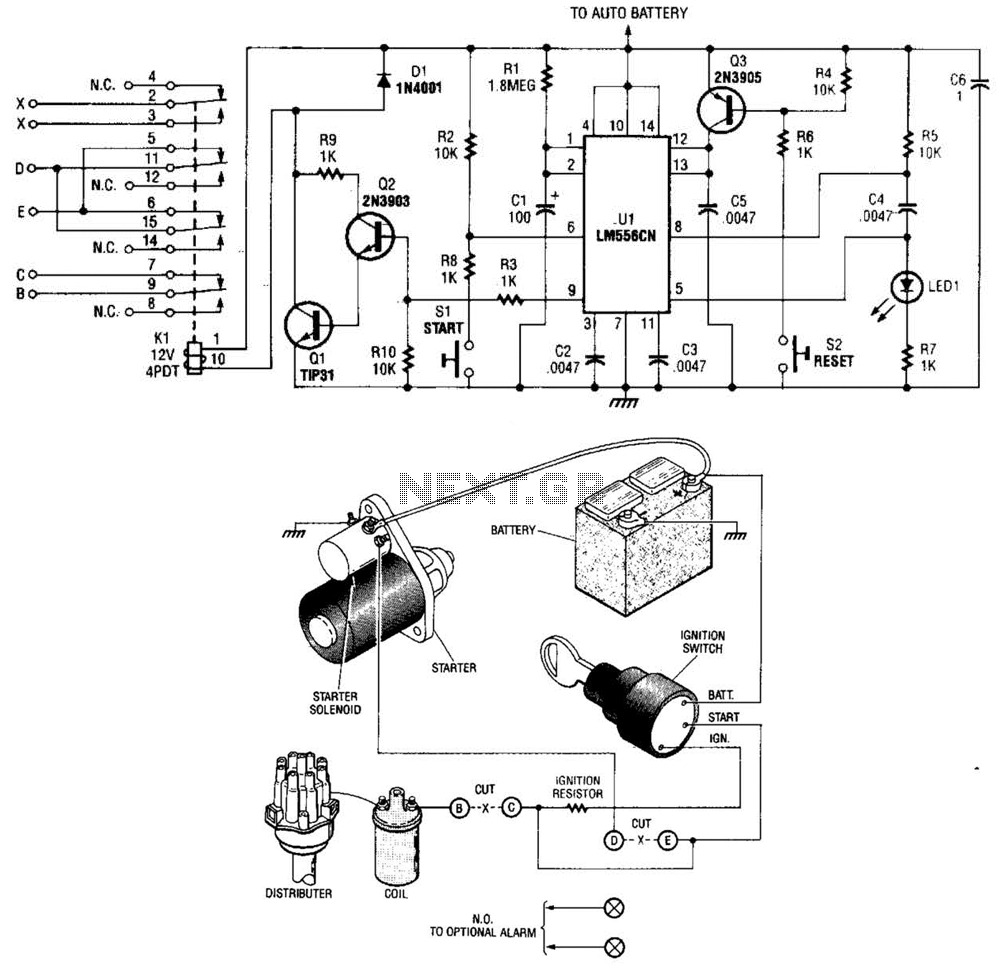 Time-Delay Auto-Kill Switch Circuit - schematic
