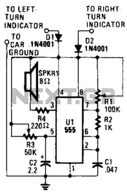 Automotive Audible-Turn Indicator Circuit