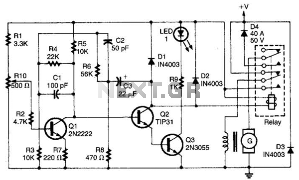 Auto Generator Regulator Circuit - schematic