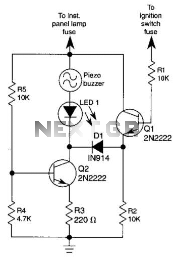 Headlight Alarm Circuit - schematic