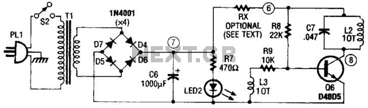 Rf-Type Battery Charger Circuit - schematic
