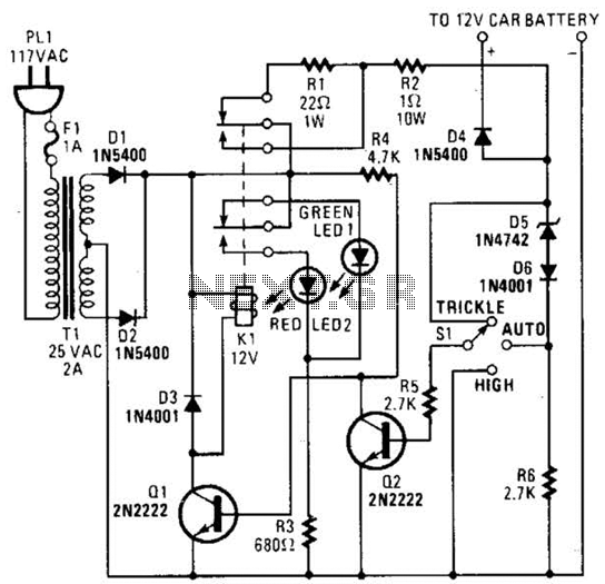 Battery Charger Circuit - schematic