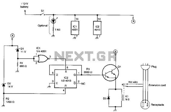 Battery Watchdog Circuit - schematic