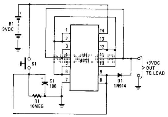Battery Saver Circuit Circuit - schematic