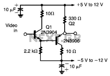 Low-Offset Simple Video Buffer Circuit - schematic