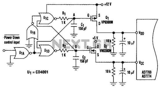 Simple Power Down Circuit Circuit - schematic