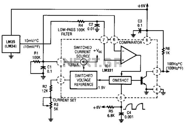 Temperature To Frequency Converter Circuit