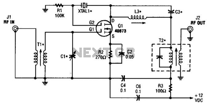 Crystal Controlled Frequency Converter Circuit