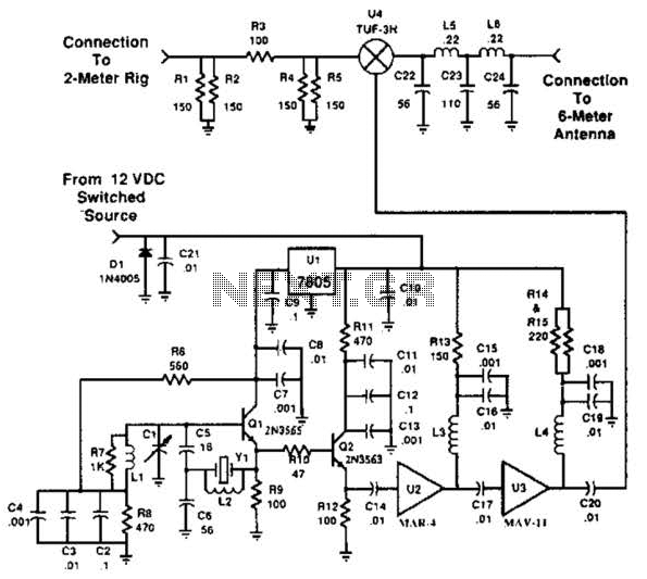 Simple 2M 6M Transverter Circuit
